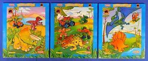 JURASSIC PARK JUNIOR THREE WOODBOARD PUZZLES 2000 SEALED PLAYSKOOL