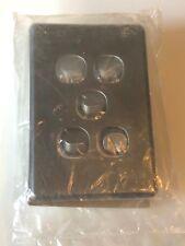 CLIPSAL SC2035VH Flush Light Switch 5 Gang 10A 250V SL2035VH Silver 2000 Series