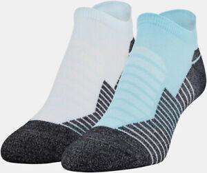 NWT Under Armour Run Performance No Show Tab Socks 2 Pack Unisex Men Women