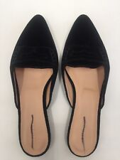 NEW  JCREW $148 Velvet loafer mules Size 7.5 In Black H1844