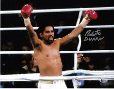 Roberto Duran Autographed 11x14 Photo Signed Champ - Beckett BAS