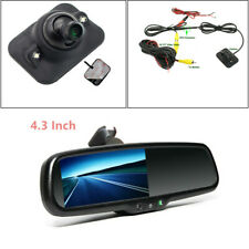 Durable Car Dimming TFT LCD Rear View Mirror Monitor w/ Rear Camera Night Vision