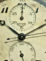 early Heuer pocked chronograph high class Valjoux 76 Superautavia Geneva stripes