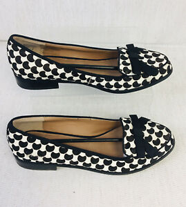New! Shellys London Black White Ladies Ballerina Shoes Size EUR38
