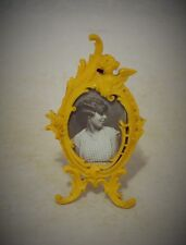FABULOUS FRENCH 1920s MINIATURE CELLULOID PHOTOGRAPH FRAME WITH ANGEL ON TOP