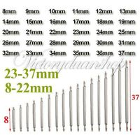60Pcs 8-37mm Watch Band Stainless Steel Spring Bars Strap Link Pins Repair Kit