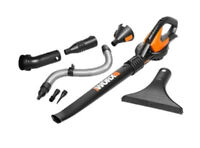 WG545.9 WORX 20V Cordless Blower with 8 Clean Zone Attachments (Tool Only)