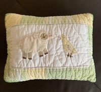 Pottery Barn Kids Decorative Pillow Green Gingham Lamb Chick Sham Insert