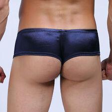Shiny Men Low-rise Cheeky Briefs Underwear Micro Boxer Pants Thong Bikini Brief