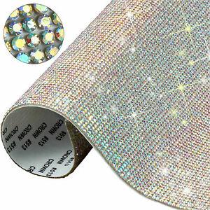 Crystal Rhinestone Sheet Rainbow Crystal Self Adhesive Size 24cm X 20cm