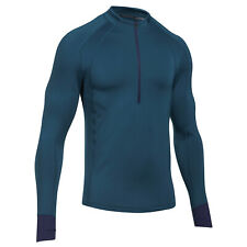 Under Armour Ua Men's ColdGear Reactor Run 1/2 Zip Top - Large - Blue - New
