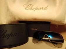 CHOPARD Sunglasses Black Silver & Blue Polarized Lenses