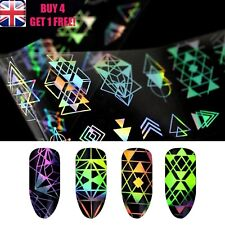 Holographic Nail Art Foil Aztec Triangle Starry Transfer Stickers >>6<<