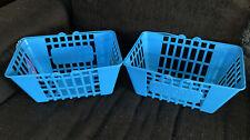 Lot 2 Real Life Shopkins Large Jumbo Shopping Basket Rare Gift Party Kids Decor