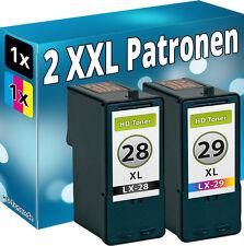 2x TINTE PATONEN für LEXMARK 28+29 34+35 XL X2500 X2510 X2530 X2550 X5070 X5075