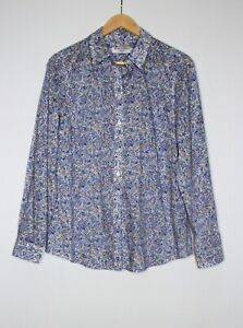 SPORTSCRAFT Size 12 Liberty Arts Print Fabric 100% Cotton Floral Collared Shirt