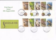 Stamps Australia 2009 Species at Risk gutter strip of 10 on cachet FDC