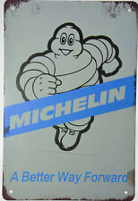 "Michelin Man Bibendum Garage Tyre Tire Retro Metal Tin Sign Plaque 8x12"" NEW.."