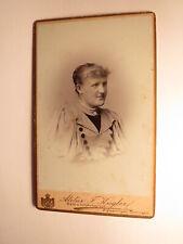 Frau - Portrait / 1896 CDV Atelier F. Kugler Sigmaringen Tuttlingen