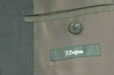 Z Zegna City Italian Made Wool Gray Dotted Textured Three Button Blazer SZ 42R