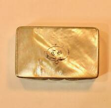 An Excellent Mother Of Pearl snuff box Georgian / Early Victorian in good order