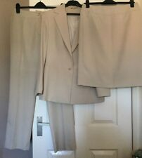 George Stone Trouser & Skirt Suit / 3 Piece - Size UK 12 / EUR 40 - Used