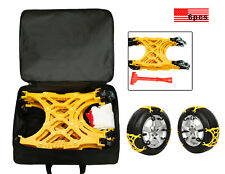 6PC Thick Tendon Emergency Thickening Snow Anti-skid Tire Chains of Car SUV