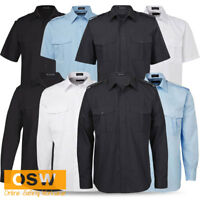 MENS TAXI/SECURITY EPAULETTE LONG/SHORT SLEEVE SKY/WHITE/BLACK/CHARCOAL SHIRT