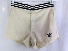 Adidas Vintage 1980's Women's Tan Tennis Shorts 3 Stripes Size 32