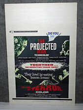ISLAND OF TERROR/THE PROJECTED MAN orig 1967 ROLLED movie poster PETER CUSHING
