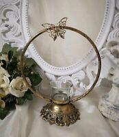Teelichthalter  Schmetterling Kerzenhalter Gold Metall Shabby Vintage Landhaus