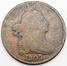 "1807 Philadelphia Mint Copper ""Draped Bust"" Half Cent, About Good"