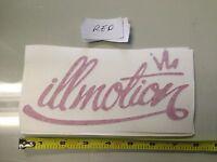 illmotion RED Sticker decal Car window bumper jdm illest stance fatlace drift