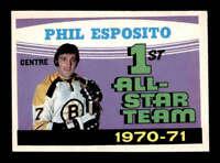 1971 O-Pee-Chee #253 Phil Esposito AS1 UER NM X1616803