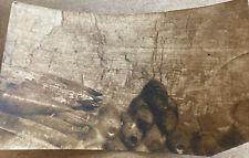 WWI Sepia Photo Gallipoli Turkish Dugout Shell Room