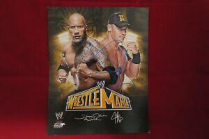 NEW WWE John Cena Autograph HAND SIGNED Wrestlemania The Rock COA WWE Promo 8x10