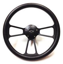 1970 & Up Chevrolet Monte Carlo Black on Black Steering Wheel & Adapter Kit