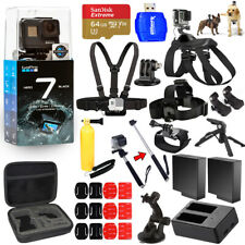 GoPro HERO7 HERO 7 Black All In 1 MEGA ACCESSORY KIT W/ 64GB Sandisk + MUCH MORE