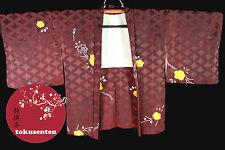 Kimono Haori Japonais ROUGE RED Véritable Import direct du Japon SOIE SILK