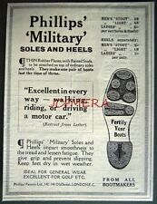 1920 PHILLIPS 'Military' Boot/Shoe Soles & Heels ADVERT - Small Fashion Print Ad