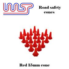 Conos De Seguridad Rojo 15mm 20 paquete de pista lateral Paisaje escala 1:32
