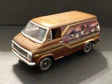 1975 CHEVY 70s STYLE CUSTOM VAN LIMITED EDITION ADULT COLLECTIBLE 1/64 SCALE BRN