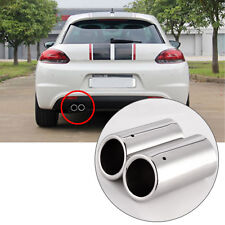 2PCS Car Exhaust Tail Pipes Muffler Tips For VW Golf 5 6 7 Passat 3C CC US R4D2