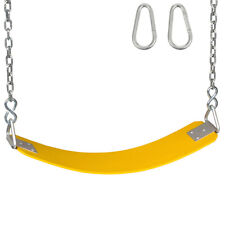 Swing Set Stuff Commercial Rubber Belt Yellow With 5.5 Ft Chains And Hooks 0123