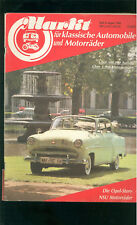 Market Classic Cars 1984 the Opel Story, NSU motorcycles