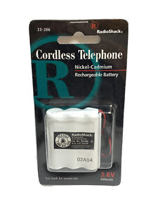 RADIO SHACK CORDLESS TELEPHONE PHONE RECHARGEABLE BATTERY 23-286 NIB 3.6v 600mah