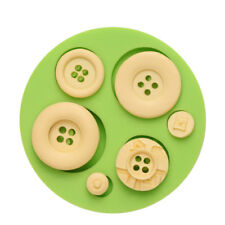 Silicone Buttons Mould Baby Cake Decor Icing Sugar Paste Chocolate Mould UK