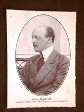Conte Leopold Berchtold di Vienna Ministro degli Esteri