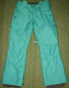 BURTON DryRide  Elite Cargo Mint Green Snowboard Ski Snow Pants Girls M 10/12