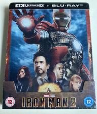 Iron Man 2 Blu Ray 4K + Blu Ray Édition ZAVVI Steelbook Neuf & Emballé